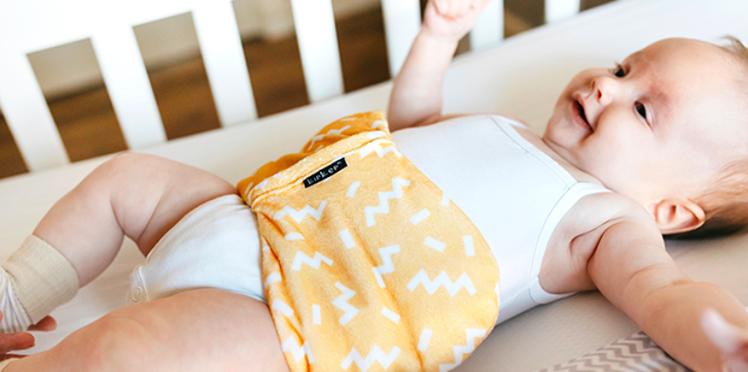 Bouillotte sèche pour calmer bébé