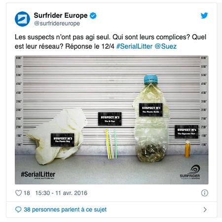 Les déchets qui polluent le plus selon Surfrider